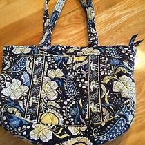 Vera Bradley Bag Handbag Shoulder Tote Madras Blue White Photo