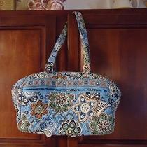 Vera Bradley Bali Blue Diaper Bag With Changing Pad - as Is Photo