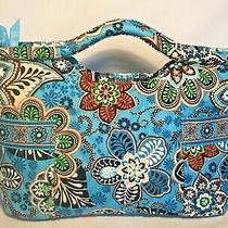 Vera Bradley Bali Blue Retired Floral Clutch Handbag Purse Excellent Cond Photo