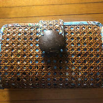 Vera Bradley Bali Blue Tiki Clutch.  Retired Rare and Hard to Find.  Nwt. Photo