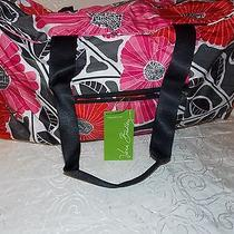 Vera Bradley Beach Nylon Bag Tote Travel Collapsible Duffel in Cheery Blossoms Photo