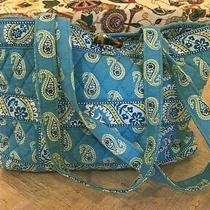 Vera Bradley Bermuda Blue Pattern Tic Tac Tote Style Small Tote Bag or Purse Photo