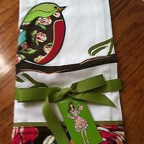 Vera Bradley Birdie Tea Towel English Rose Tags Ribbon New Kitchen Cotton  Photo