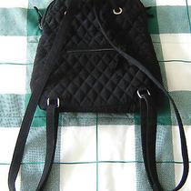 Vera Bradley Black Microfiber Backpack  Photo