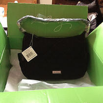 Vera Bradley Black Microfiber City Shoulder Bag Photo