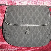 Vera Bradley Black Microfiber Dressy Handbag With Strap Ltd Retired Photo