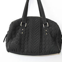 Vera Bradley Black Microfiber Handbag Purse Photo