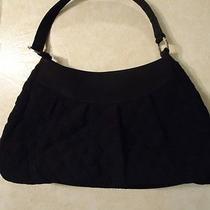 Vera Bradley Black Microfiber Hobo Handbag - Used Photo