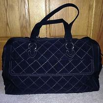 Vera Bradley Black Microfiber Overnighter Travel Bag   Photo