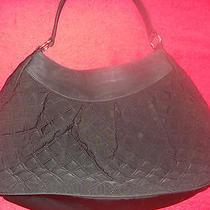 Vera Bradley Black Microfiber Pleated Hobo Photo