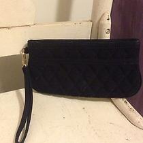 Vera Bradley Black Microfiber Quilted Wristlet Wallet  Photo