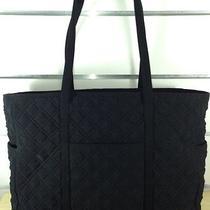 Vera Bradley Black Microfiber Tote Bag Photo