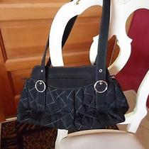 Vera Bradley Black Quilted Microfiber Handbag  Photo