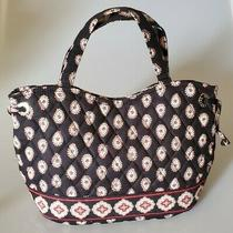 Vera Bradley Black & Red Paisley Pattern Sherry Style Tote Purse Photo