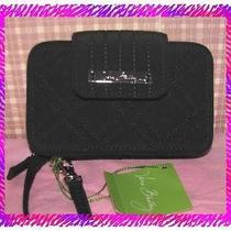 Vera Bradley Black Smartphone Iphone Case Wristlet Wallet  Nwtag Photo