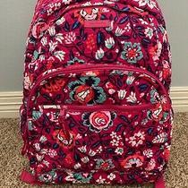 Vera Bradley Bloom Berry Large Essential Backpack Laptop Sleeve School With Tags Photo