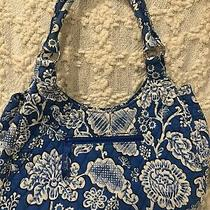 Vera Bradley Blue Bayou Large Hobo Handbag Purse Euc Photo