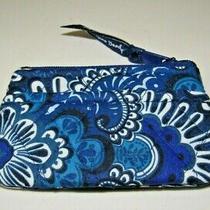 Vera Bradley Blue Tapestry Cotton Fabric Coin Purse 15229-L95 Photo
