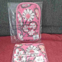Vera Bradley Blush Pink Double Eye Case & Matching Coin Purse - Nwt  Photo