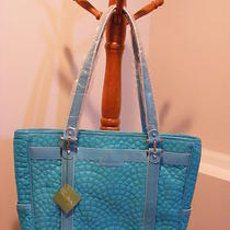 Vera Bradley Bonjour Laptop Bag Meet Me in Paris Limited Ed Nylon Turquoise Nwt Photo