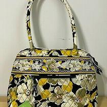 Vera Bradley Bowler Bag Dogwood Floral Black Cream Green Yellow Orange Purse New Photo