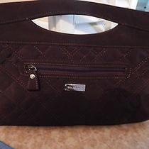 Vera Bradley Brown Microfiber Clutch Bag Photo