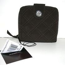 Vera Bradley Brown Microfiber Mini Wallet Nwt Photo