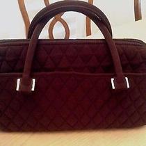 Vera Bradley Brown Microfiber Satchel Handbag Photo