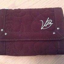 Vera Bradley Brown Microfiber Trifold Wallet With Strap Photo
