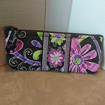 Vera Bradley Brown-Pink Paisley Blush and Pencil Make-Up Bag With Tags Photo