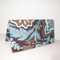 Vera Bradley Brown & Teal Check Book Cover Photo