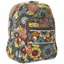 Vera Bradley Campus Backpack Flower Shower Book Tote Bag New Photo