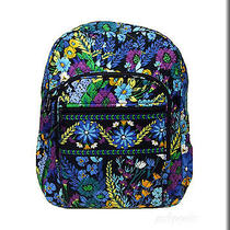 Vera Bradley Campus Backpack - Midnight Blues Pattern - Nwt Photo