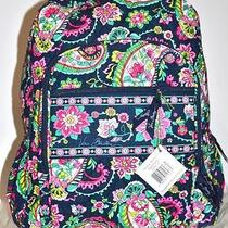 Vera Bradley Campus Backpack Petal Paisley Roomy Fast Shipping Photo