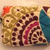 Vera Bradley Campus Double Id Case Plum Crazy Card Holder Key Ring New Photo