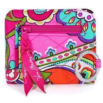 Vera Bradley Campus Double Id Pink Swirls Wallet Holder Case New Photo