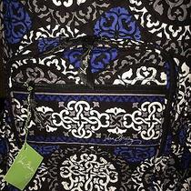 Vera Bradley Canterberry Cobalt Campus Backpack Bag Nwt  Photo