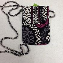 Vera Bradley Canterberry Magenta Cell Phone Crossbody Nwt Photo