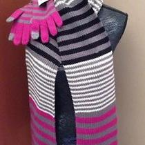 Vera Bradley Canterberry Magenta Scarf and Glove Set Nwt Comes Boxed  Photo
