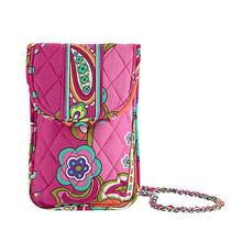 Vera Bradley Cell Phone Crossbody in Pink Swirls 13302 Photo
