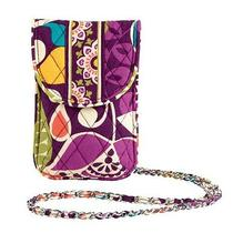 Vera Bradley Cell Phone Crossbody Plum Crazy Photo