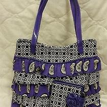 Vera Bradley Cha Cha Ruffle Purple Purse Handbag (Retired) Matching Frill Wallet Photo