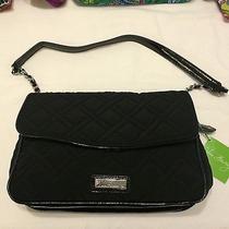 Vera Bradley Chain Shoulder Bag  Microfiber Black Nwt Photo
