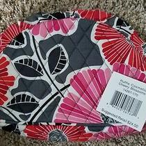 Vera Bradley Cheery Blossoms Medium Ruffle Cosmetic Makeup Case Nwt Photo