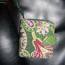 Vera Bradley Chelsea Green Wallet Retired  Photo