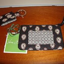 Vera Bradley Classic Black Zip Id Case Nwt & Photo Key Ring Nwot (2 Items) Photo