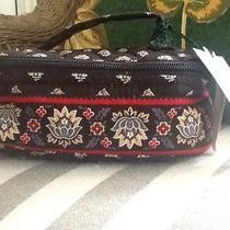 Vera Bradley Classic Black Zippered Jewelry Travel Case Photo
