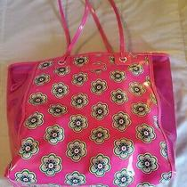Vera Bradley Clearly Colorful Tote Shoulder Bag in Pink Swirls Flowers Photo