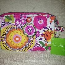 Vera Bradley Clementine Small Cosmetic Makeup Bag Nwt Bright Pink Orange Photo