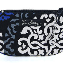 Vera Bradley Clip Zip Id Case Canterberry Cobalt Wallet Gift Card Holder New Photo